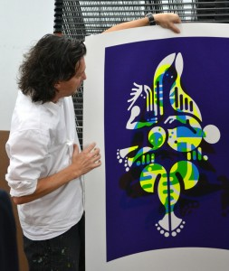 Ryan McGinness at the Lower East Side Printshop. All photos by Jessica Womack