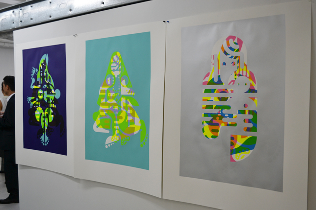 Three Mother and Child prints by Ryan McGinness