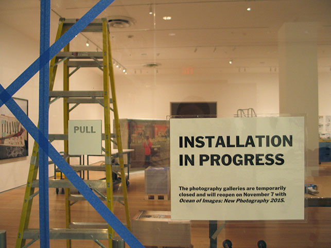 Installing Ocean of Images: New Photography 2015. Photo: Kristen Gaylord