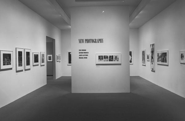 Installation view of New Photography: Zeke Berman, Antonio Mendoza, Judith Joy Ross, and Michael Spano (August 22–December 3, 1985). Museum of Modern Art, New York. Photo: Mali Olatunji