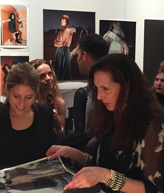 Laurie Simmons with members of the Junior Associates. Photo: Jessica Womack