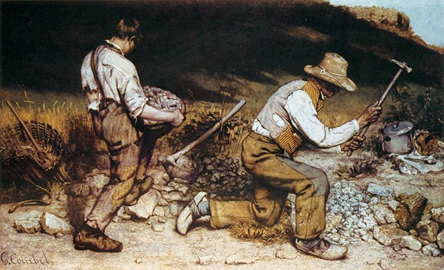 Gustave Courbet. The Stone Breakers. 1849