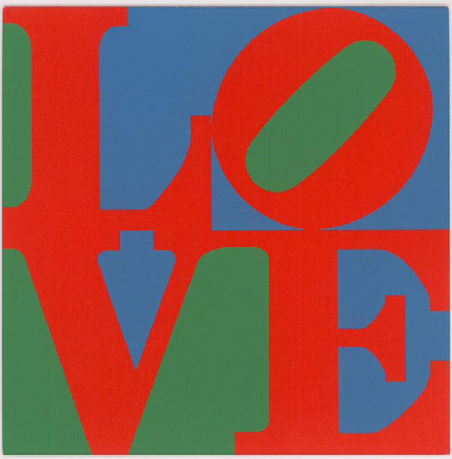 Robert Indiana's LOVE (1965) is one of many holiday cards commissioned by The Junior Council of the Museum. The image subsequently became well-known in various other contexts. © 2015 Morgan Art Foundation Ltd./Artists Rights Society (ARS), New York