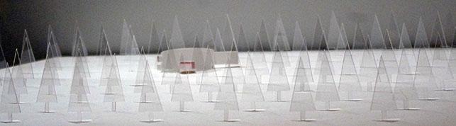 "Kazuyo Sejima & Associates. Model of Villa in the Forest, Chino, Nagano, Japan. 1992–94. Acrylic, 6 1/2 x 29 1/2 x 29 3/4"" (16.5 x 74.9 x 75.6 cm). Gift of the architect in honor of Philip Johnson. © 2016 Kazuyo Sejima. Photo: Anna Blair"