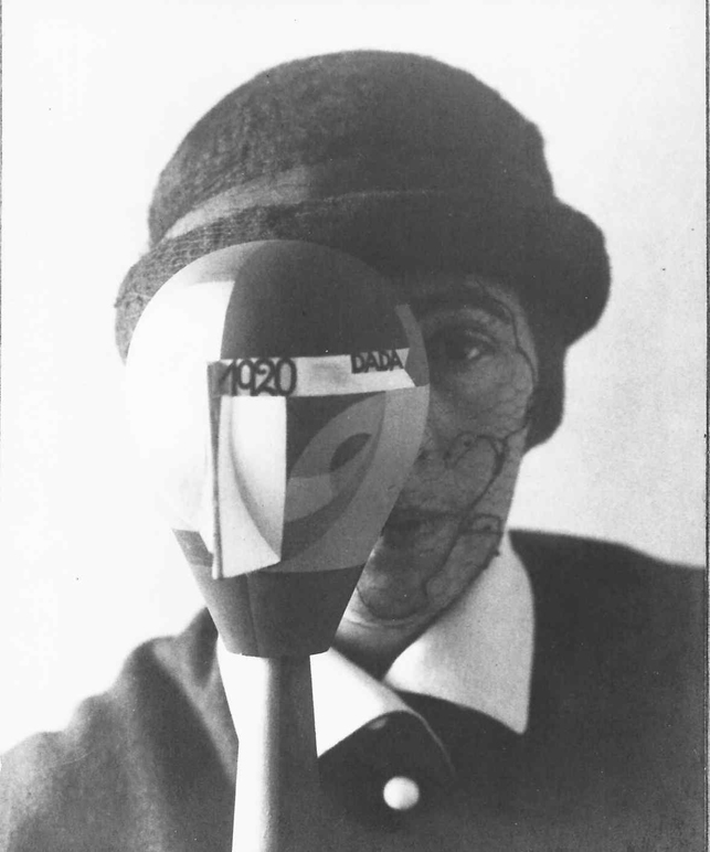 Sophie Taeuber-Arp with Dada Head. 1920. Photo: Nic Aluf. Stiftung Arp e.V., Berlin/Rolandswerth