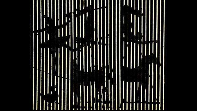 Ernie Gehr. CARNIVAL OF SHADOWS. 2012–15. Five-channel video (black-and-white and color, silent), approx 20 min. The Museum of Modern Art, New York. Image courtesy the artist