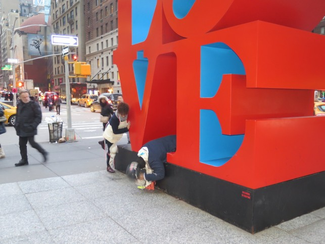 Donae and Igor tackle the Robert Indiana LOVE sculpture as an exercise in Institutional Critique