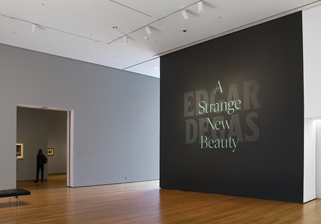 Title wall of Edgar Degas: A Strange New Beauty at The Museum of Modern Art. Photo: Vanessa Lam