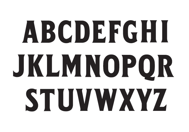 The finished typeface