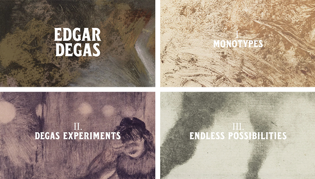 ustom typeface used on title cards for the Degas video produced by the MoMA Digital Media team.