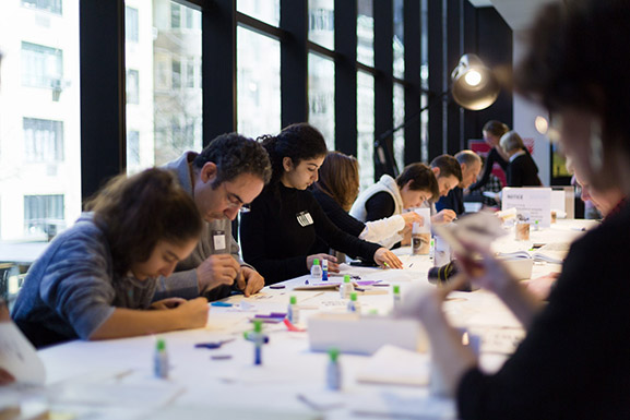 Participants at Erasures: A Poetry Workshop Inspired by Marcel Broodthaers