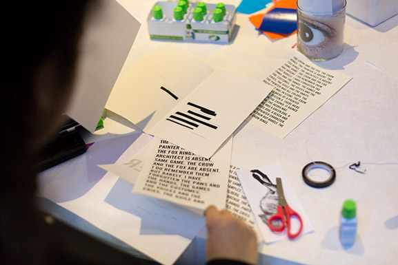 Art making during Erasures: A Poetry Workshop Inspired by Marcel Broodthaers
