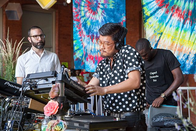 Honey Soundsystem performs at MoMA PS1's Warm Up on June 18, 2016. Image courtesy of MoMA PS1. Photo: Derek Schultz