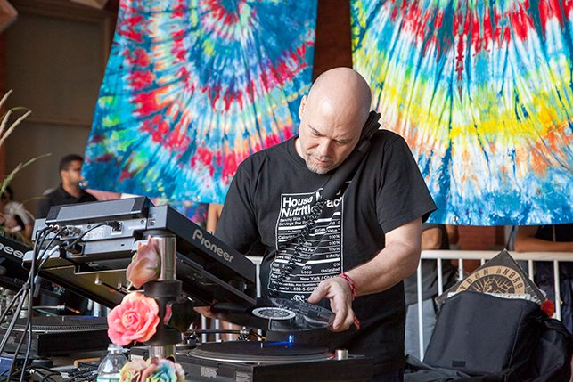 Danny Krivit performs at MoMA PS1's Warm Up on June 18, 2016. Image courtesy of MoMA PS1. Photo: Derek Schultz