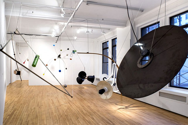 David Tudor and Composers Inside Electronics. Rainforest V (Variation 1). 1973–2015. Sound installation of 20 objects, dimensions variable. Installation view, Broadway 1602. Courtesy Broadway 1602, New York