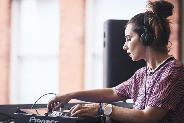 Nina Las Vegas performing at MoMA PS1's Warm Up on July 16, 2016. Image courtesy of MoMA PS1. Photo: Charles Roussel