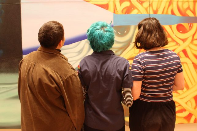Exploring MoMA's collection and searching for new narratives. (Photo by Kaitlyn Stubbs.)
