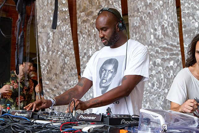 Virgil Abloh performs at MoMA PS1's Warm Up on July 9, 2016. Image courtesy of MoMA PS1. Photo: Derek Schultz
