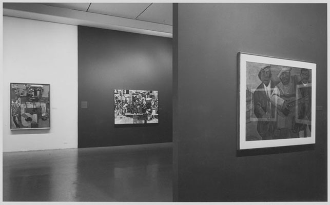 Installation view of the exhibition, Romare Bearden: The Prevalence of the Ritual. Photographic Archive. MoMA Archives, NY