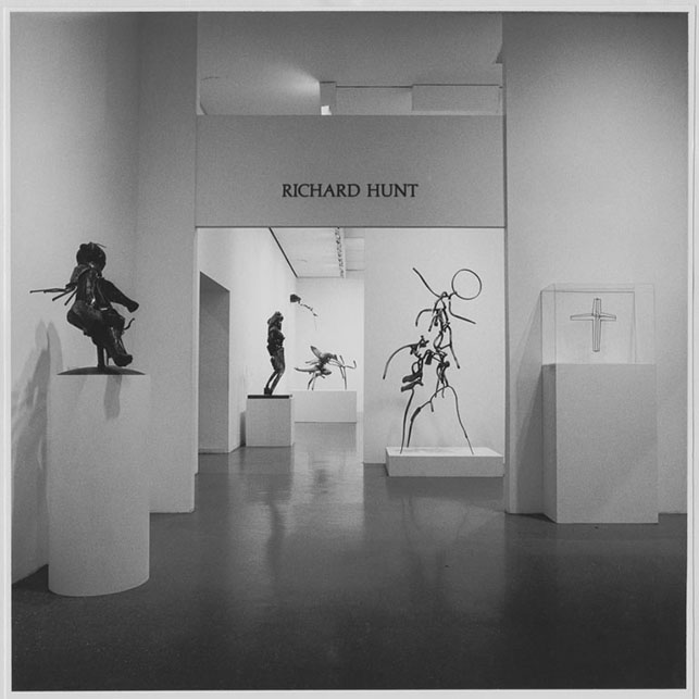 Installation view of the exhibition, The Sculpture of Richard Hunt. Photographic Archive. MoMA Archives, NY