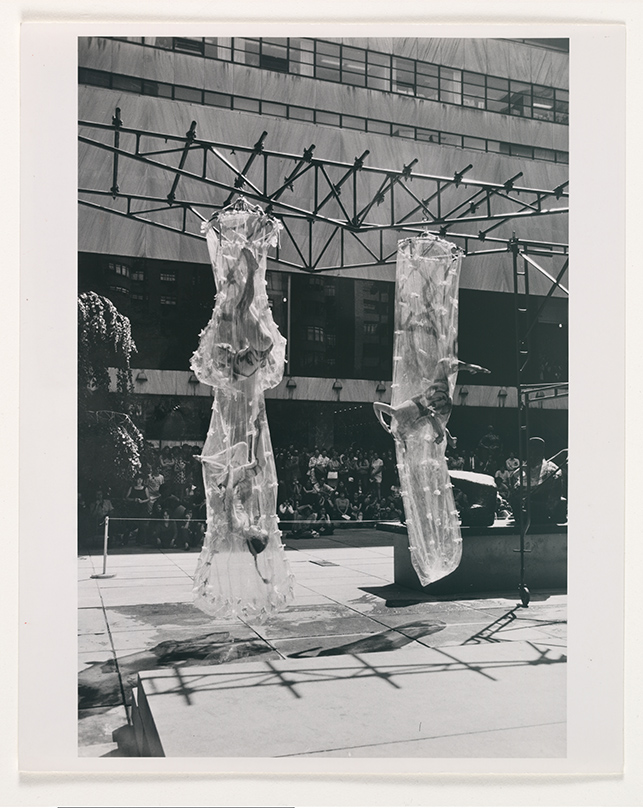 View of the performance, Multigravitational Group. Summergarden Program, June 10, 1971.  Museum-Related Photographs, 75. The Museum of Modern Art Archives, New York
