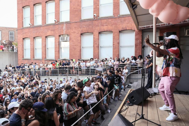 D.R.A.M. performs at MoMA PS1's Warm Up on June 25, 2016. Image courtesy of MoMA PS1. Photo: Derek Schultz