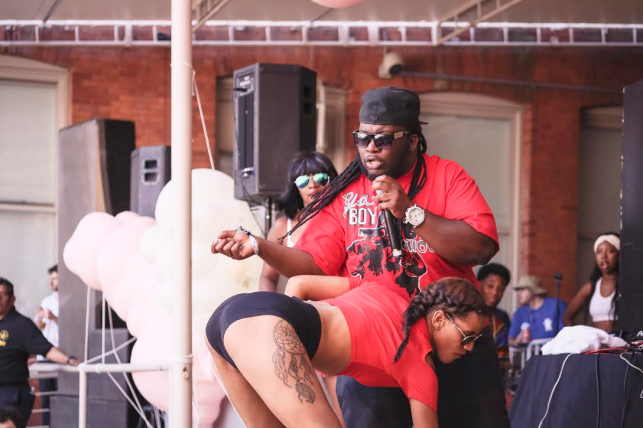 Ya Boy Big Choo & Da Crew performs at MoMA PS1's Warm Up on June 25, 2016. Image courtesy of MoMA PS1. Photo: Derek Schultz