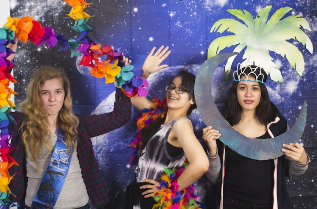 Posing for pictures at the OAS prom event. (Photo by Néstor Pérez-Molière)