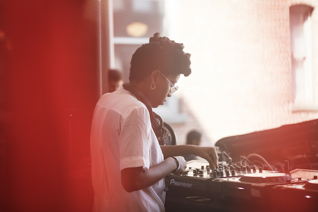 SHYBOI performing at MoMA PS1's Warm Up on August 13, 2016. Image courtesy of MoMA PS1. Photo: Charles Roussel