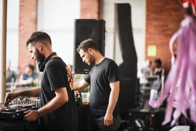 Mumdance and Logos performing at MoMA PS1's Warm Up on August 13, 2016. Image courtesy of MoMA PS1. Photo: Charles Roussel