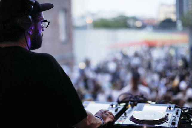 DJ Special Request performing at MoMA PS1's Warm Up on August 13, 2016. Image courtesy of MoMA PS1. Photo: Charles Roussel