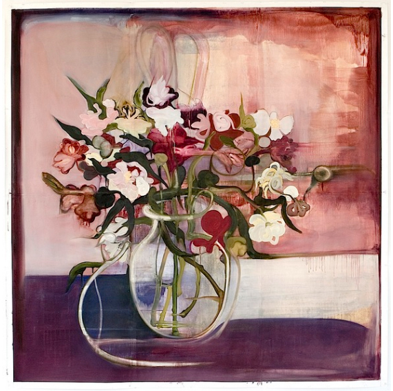 all artwork by elizabeth riggle peonies oil on paper